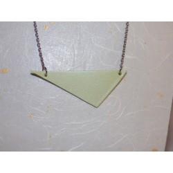 Cuir triangle, acier inox