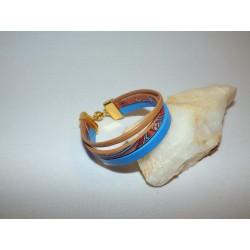 Bracelet cuir ethnique ou rayé