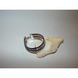 Bracelet cuir imprimé