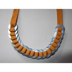 Collier coton et rondelles acier