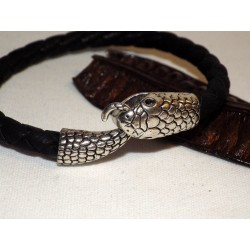 Tête de serpent & cuir