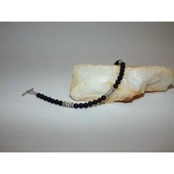 Bracelet perles de lave