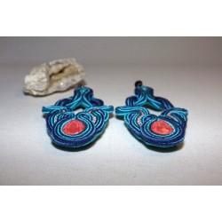Boucles d'oreilles soutache et Swarovski