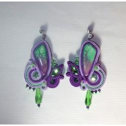 """Boucles d'oreilles """"Orchidée"""""""