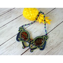 "Collier plastron soutache ""Supernova"""