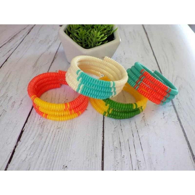 Bracelets 4 tours, rondelles heishi