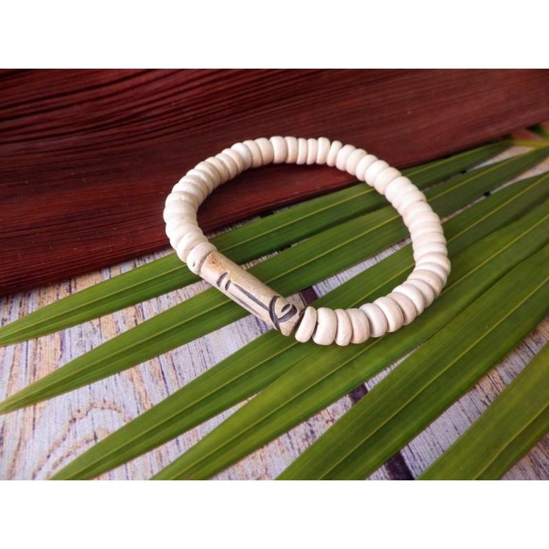 Bracelets tube en corne, pour homme