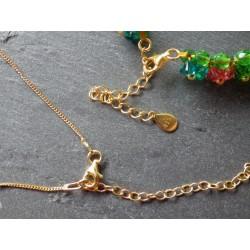 Collier Swarovski, argent 925 plaqué or 24 carats