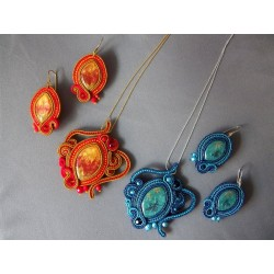 Fire & ice - parure soutache
