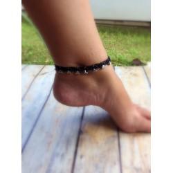 Bracelets de cheville macramé et triangles
