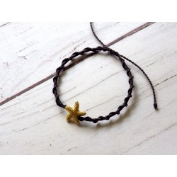 Bracelet macramé étoile de mer