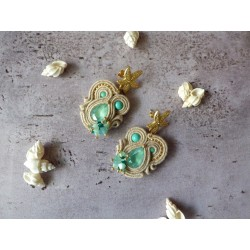 """MERMAID"" N°1 boucles d'oreilles soutache"