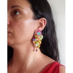 """""""Isabella"""" boucles d'oreilles soutache et Swarovski"""