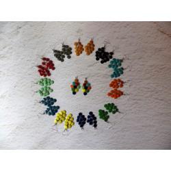 Boucles d'oreilles inox et sequins colorés