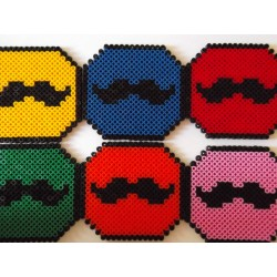 Dessous de verres moustaches
