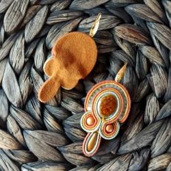 """""""LICHEN"""" boucles d'oreilles soutache, céramique et inox"""