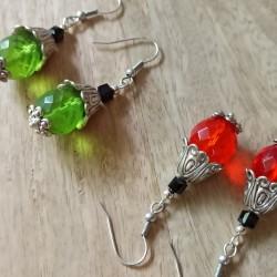 Boucles d'oreilles grosses perles en verre