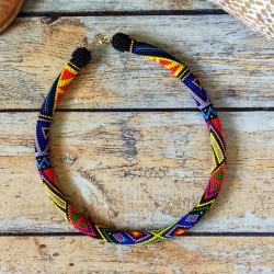 """MASSAÏ"" collier spirale au crochet"