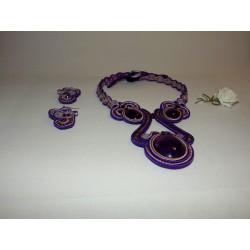 Parure soutache violet