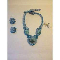 Parure soutache turquoise