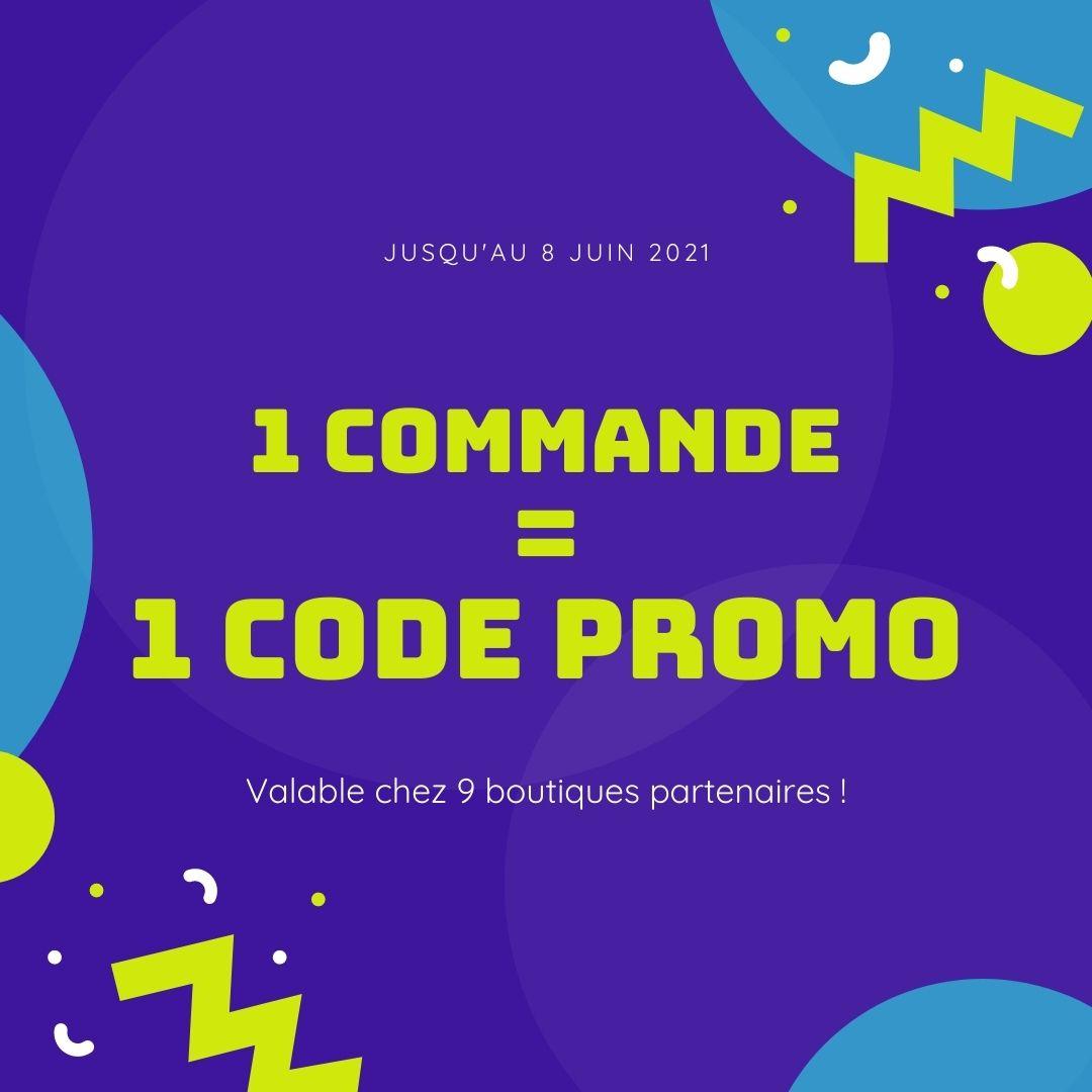 1 commande = 1 code promo